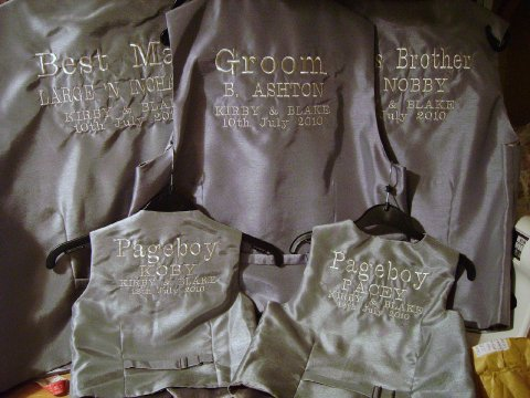 Personalised Waistcoats - Designs by SAZZ