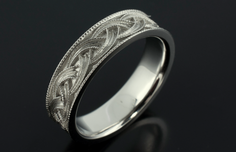Unique Mens wedding band - Blair and Sheridan Bespoke Diamond Jewellers