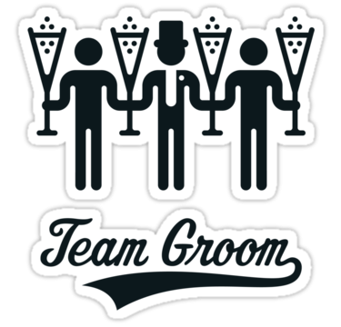 Stag 'Team Groom' champagne.png