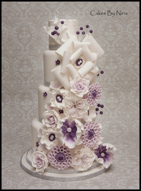 Our Stunning Purple Sparkle Cake - Cakes by Nina