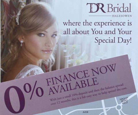 TDR Bridal Birmingham offers 0% Finance - TDR Bridal Birmingham
