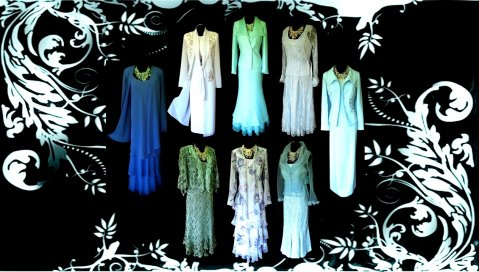 Wedding Outfits in Blue