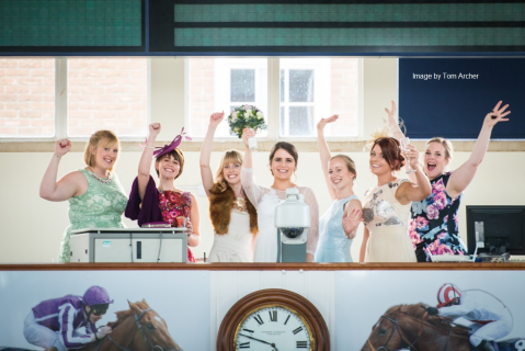 All the girls in the Sale Ring - Tattersalls