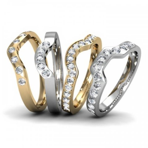 Fitted Wedding Rings with Diamonds - Aurum designer-jewellers