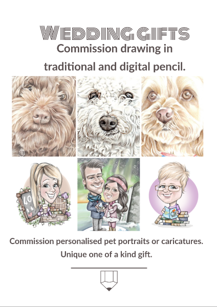 wedding gift commission ideas - picky pencil