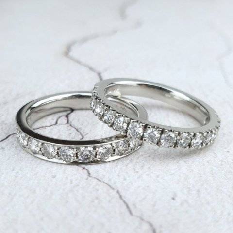 Diamond-Set Wedding Rings - Aurum designer-jewellers
