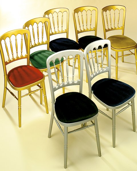 Gold & Silver Banquet Chair - ABC CATERING & PARTY EQUIPMENT HIRE LTD