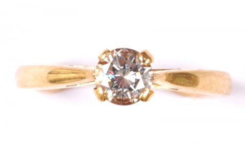 Diamond solitaire ring O.44ct G/VS1 £2250 (bought from David Moris for more than double) - N.Bloom & Son