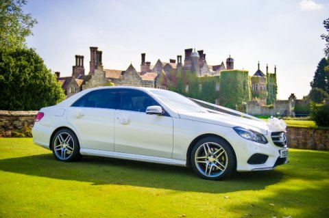 Luxury White Mercedes Wedding Car - Platinum Cars