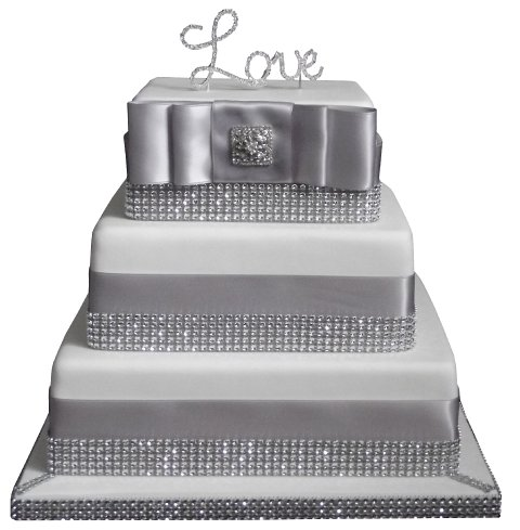 Add some bling to your day with this diamante Wedding Cake!