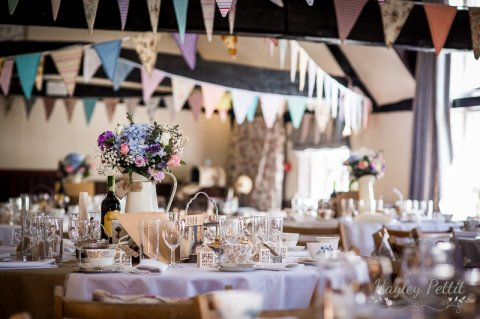 Vintage tea party wedding breakfast