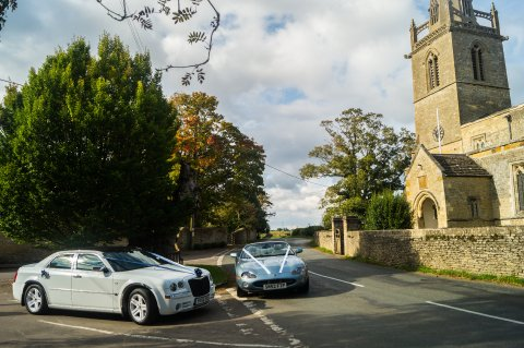 outside church - Price Wedding Cars