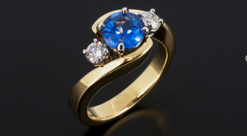 Diamond and Sapphire Ring - Blair and Sheridan Bespoke Diamond Jewellers