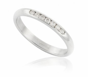 Platinum and diamond eternity wedding ring