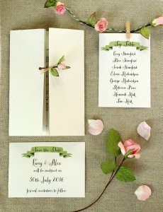 Paper Tree - paper rose stationery