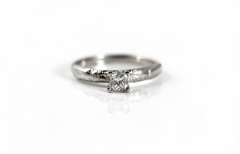 Diamond and 18ct White Gold Engagement Ring