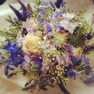 Blush floral art