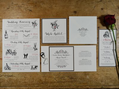 Autumnal Plum Wedding Stationery by On Cloud Nine