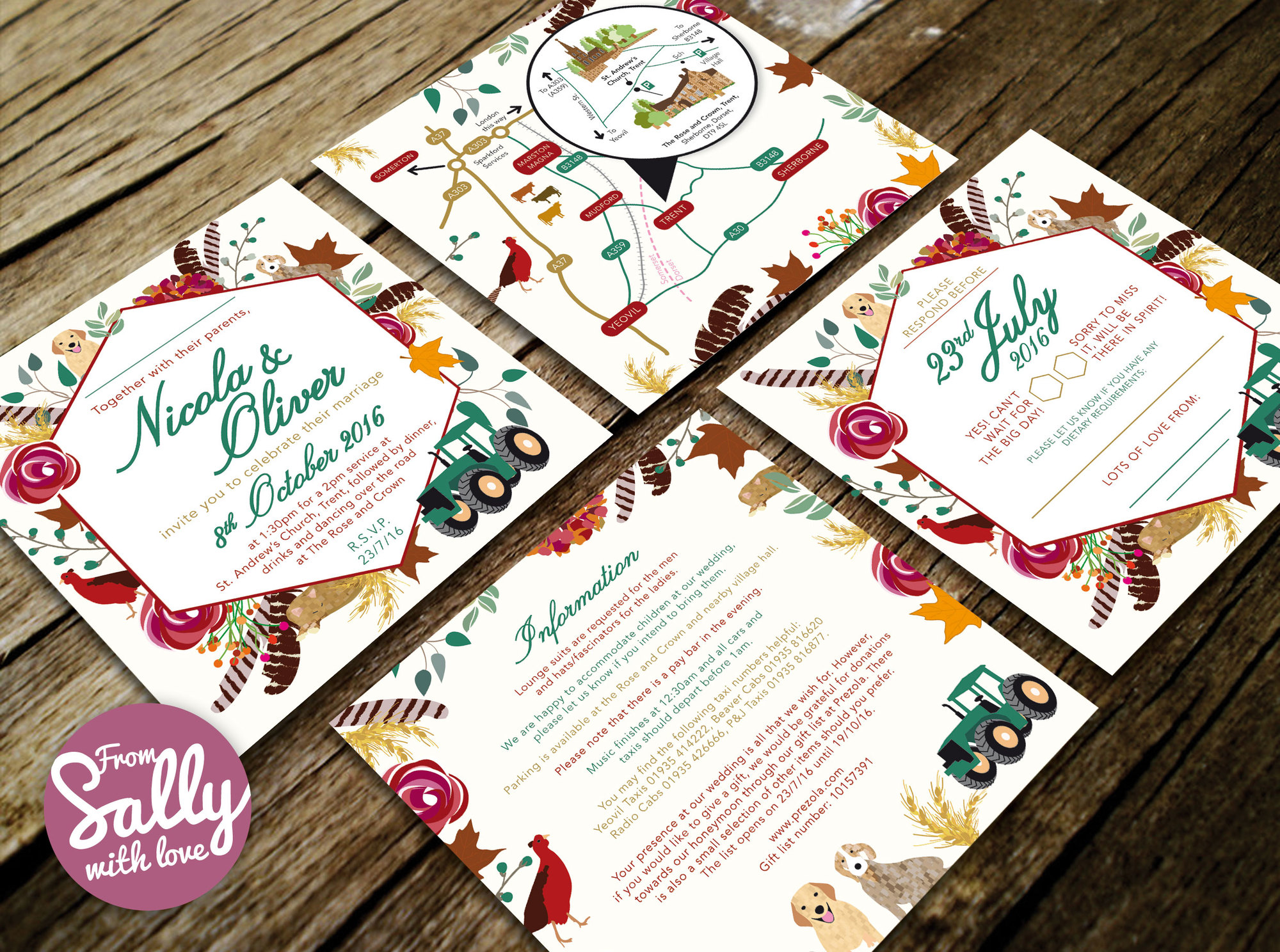 From Sally with Love, Wedding Invitations and Stationery In Frome ...